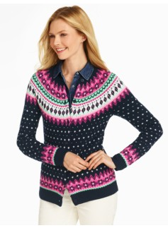 Falling Snow Fair Isle Cardigan