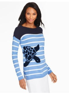 Sea Turtle & Breton Stripes Sweater