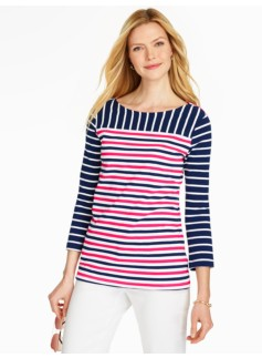 Mariner Stripes Blocked Tee