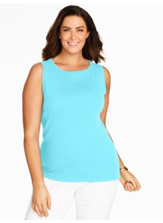 Pima Cotton Sleeveless Boatneck Tank