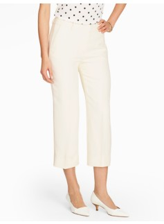 Refined Crepe Crop - Ivory