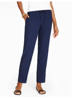 Talbots Eastport Drawstring Pant - Diamond Checks