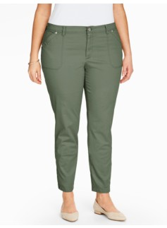 Twill Slim Ankle Pants