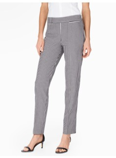 Talbots Chatham Ankle Pant-Gingham Checks