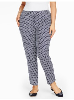 Talbots Hampshire Ankle Pant - Circle Geo