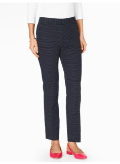 Talbots Chatham Ankle Pant - Curvy/Scattered Dots