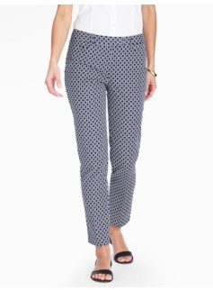 Talbots Hampshire Ankle Pant - Curvy/Circle Geo