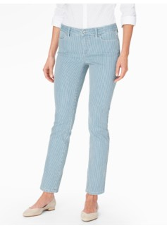 The Flawless Five-Pocket Ankle Jean - Bistro Stripes