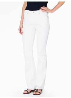 The Flawless Five-Pocket Bootcut Jean - Curvy/White
