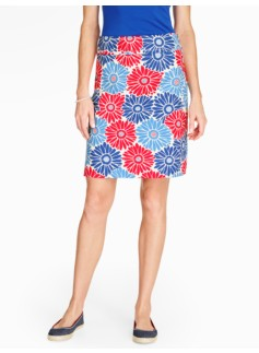 Bright Daisy A-Line Skirt