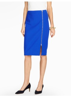 Side-Zip Pencil Skirt