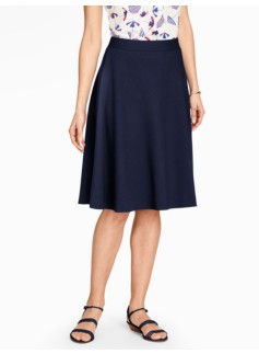 Honeycomb-Textured Circle Skirt