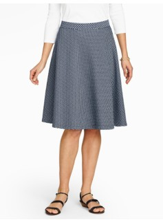 Honeycomb-Textured Circle Skirt-Circle Links