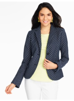 Sparkle Diamond-Print Blazer