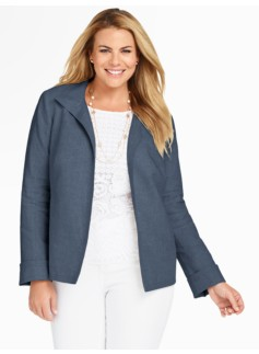 Madison Linen Stand-Collar Jacket