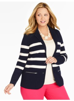 The Sweater Blazer-Sailor Stripes