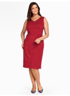 Peek-a-boo Back Ponte Sheath