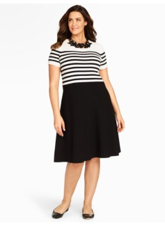 Breton Stripes Colorblock Dress