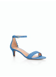 Pila Scalloped Sandals-Suede