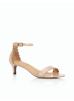 Pila Scalloped Sandals-Patent Leather
