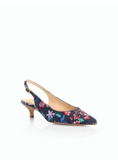 Pippa Kitten-Heel Pumps-Flower Botanical