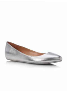 Viola Hidden-Wedge Ballet Flats - Metallic