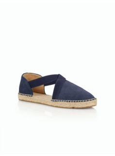 Ivy D'Orsay Espadrille Flats - Suede