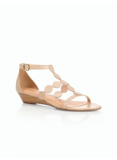 Capri Circle-Strap Wedge