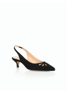 Pippa Kitten-Heel Pumps-Cutout Suede