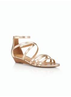 Capri Gladiator Wedge-Metallic