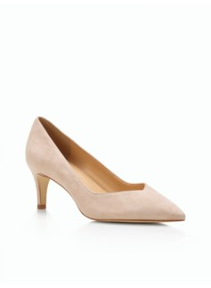Skylar Deep-V Pumps - Suede