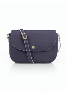 Rounded Mini Flap-Top Crossbody Bag