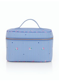 Stripes & Flowers Cosmetic Case