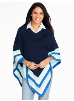 Colorblock & Bright Stripes Poncho