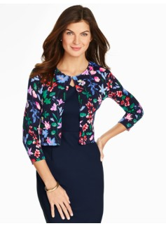 Classic Dress Shrug-Flower Botanical