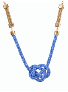 Seedbead Nautical-Knot Necklace