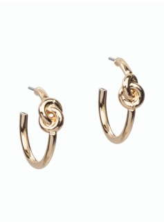 Nautical-Knot Hoop Earrings