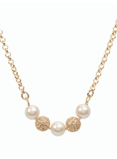 Pearl & Pav� Necklace