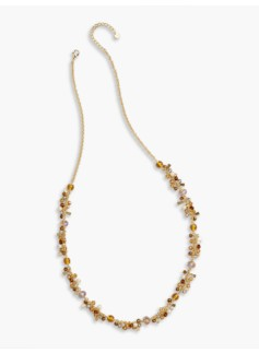 Tiny Bead Cluster Necklace