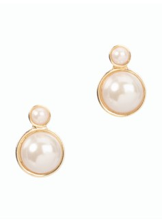 Double-Pearl Earrings