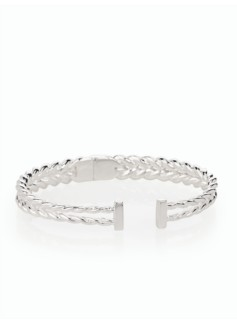 Sterling Silver Twisted Rope Cuff