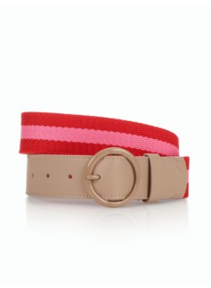 Womans Stripe Cotton Web Belt