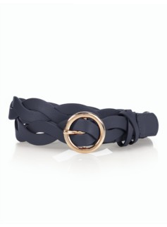 Womans Twisted Leather Belt