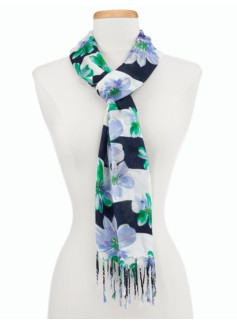 Orchids & Stripes Scarf