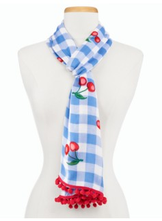 Cherries & Gingham Scarf