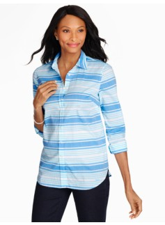 Print Cotton Shirt - Kappa Stripes