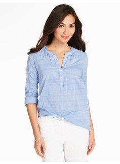 Textured Chambray Popover