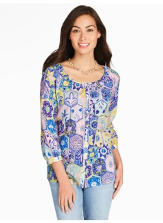 Geo-Flower Blouse