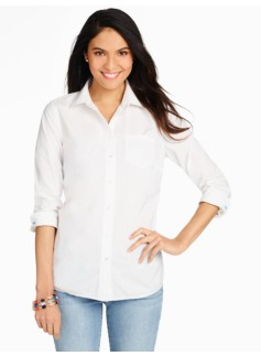 Poplin Button Front Shirt