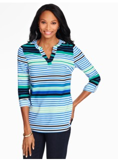 Marina Popover-Bright Stripes